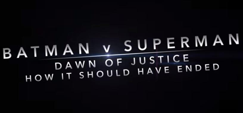 Así es como debería de haber terminado 'Batman v Superman: El amanecer de la justicia'