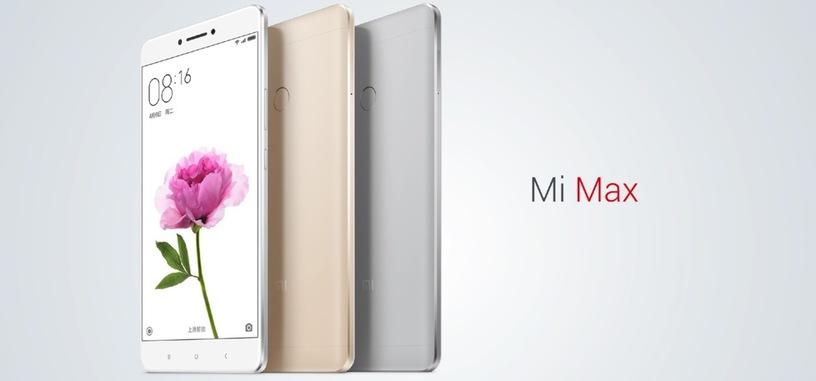 Xiaomi Mi Max es la phablet con una pantalla de 6,44 pulgadas y 4.850 mAh de batería