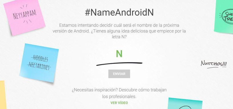 Google te pregunta cuál quieres que sea el nombre oficial de Android N