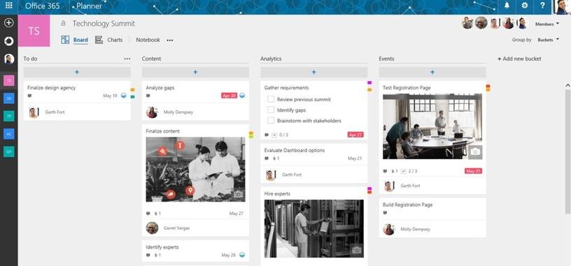 Planner es el nuevo servicio de Microsoft para organizar trabajo, y competidor de Trello
