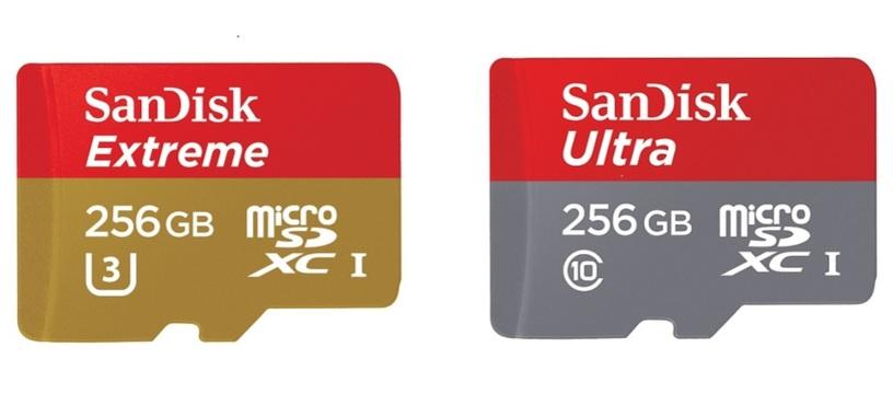 SanDisk presenta dos nuevas tarjetas microSDXC de 256 GB de gran velocidad