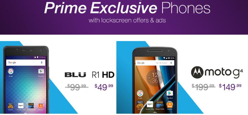 Amazon ofrece teléfonos Android con descuento a los clientes Premium en EE. UU.