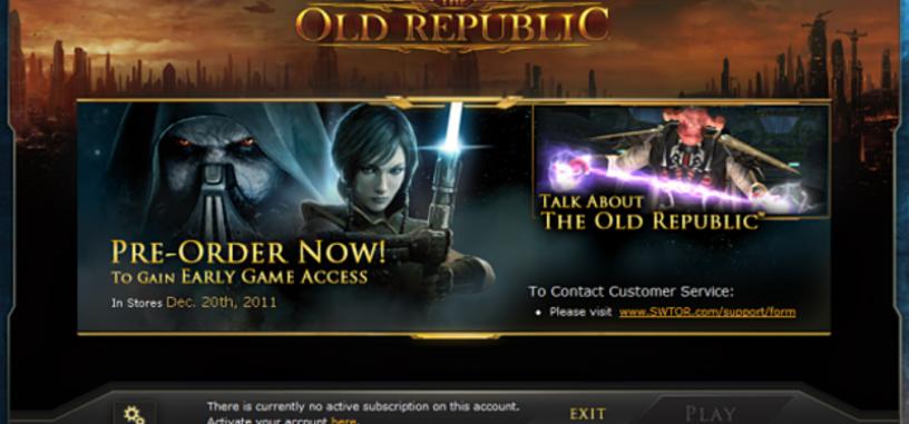 Acceso anticipado a Star Wars: The Old Republic