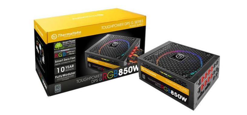 Thermaltake Toughpower DPS G RGB, hasta 1500 W con certificado 80 PLUS Titanium