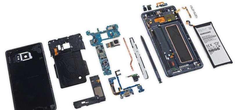 El Samsung Galaxy Note 7 suspende el examen de reparabilidad de iFixit