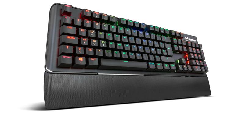 Krom Kael es el nuevo teclado mecánico iluminado de NOX