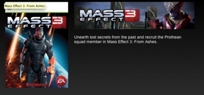 El Marketplace de la Xbox muestra accidentalmente el primer DLC de Mass Effect 3