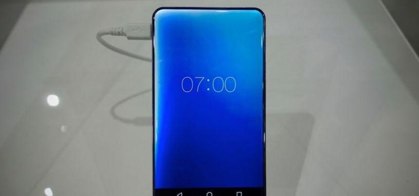 Sharp presenta el prototipo de un teléfono sin marco y con pantalla de bordes redondeados