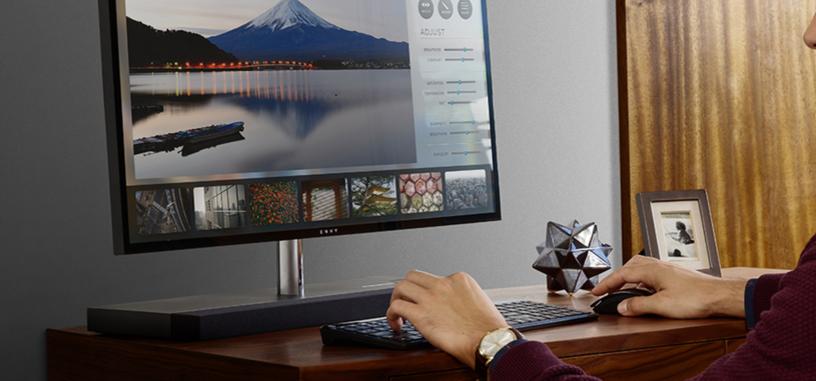 HP Envy AIO 27, nuevo todo en uno casi sin marcos, delgado y con el PC en el soporte