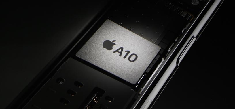 El tamaño de los núcleos del Apple A10 es bastante mayor que el resto de SoC actuales