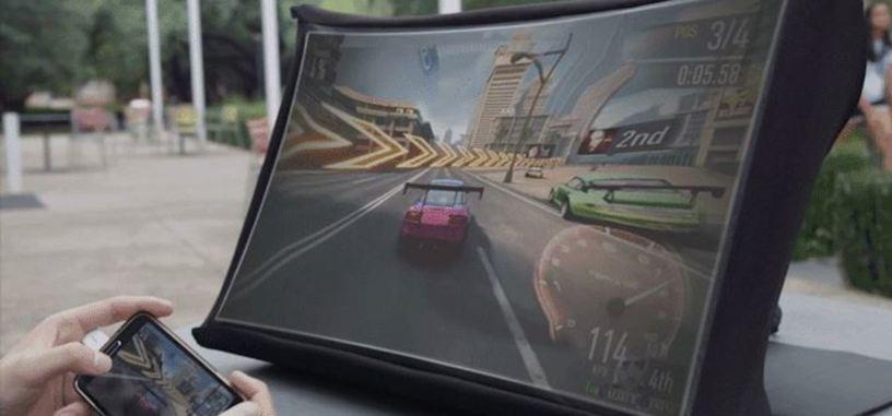 SPUD es una pantalla fácil de transportar y que se abre como un paraguas