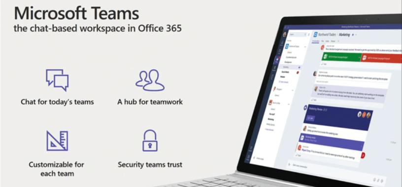 Ya está disponible Microsoft Teams, la herramienta para la comunicación de equipos