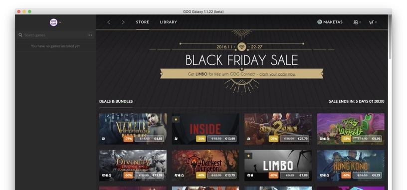 GOG empieza sus rebajas especiales de juegos por el 'Black Friday'