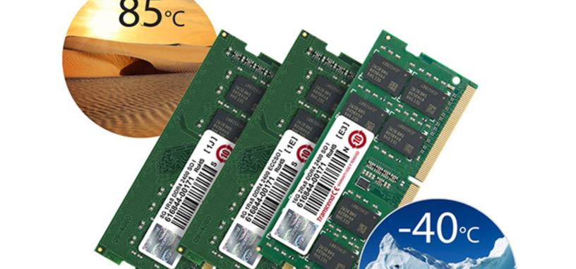 Transcend presenta módulos de memoria DDR4 SO-DIMM que aguantan temperaturas extremas