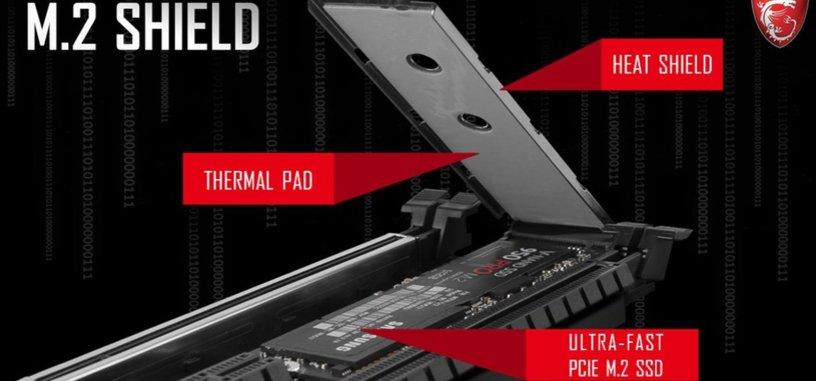 MSI quiere acabar con el sobrecalentamiento de los SSD de tipo M.2 insertados en placa base