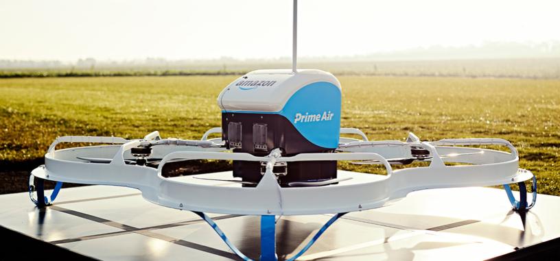 Amazon comienza a probar los drones de Prime Air en Inglaterra con entregas reales