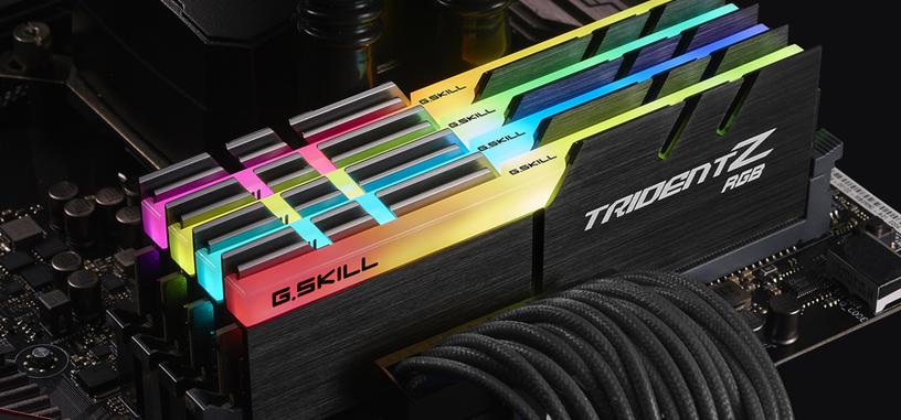 G.Skill presenta la serie de memorias Trident Z con iluminación RGB