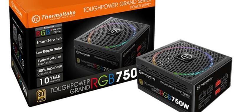 Thermaltake Toughpower Grand RGB, serie de fuentes modulares 80 PLUS Gold con iluminación