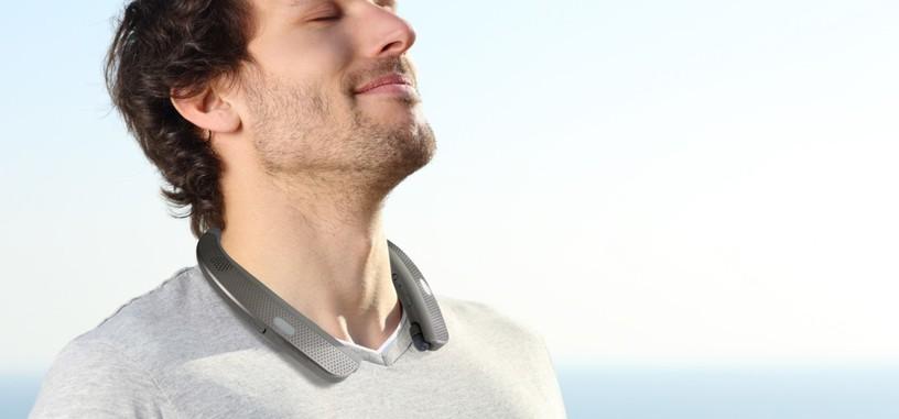 TONE Studio son unos altavoces tipo collar de LG, para que todos oigan tu música