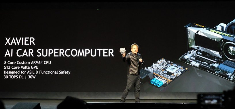 Nvidia hace uso de su computadora Xavier para mostrar su coche totalmente autónomo