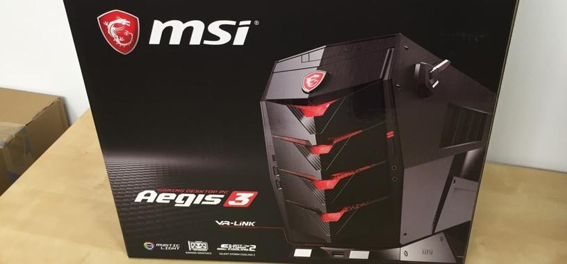 Análisis: MSI Aegis 3, un equipo compacto con un Core i7-7700 y GTX 1070 para RV