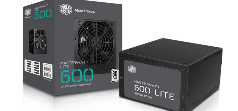 Cooler Master MasterWatt Lite, fuente de bajo precio con certificado 80 Plus