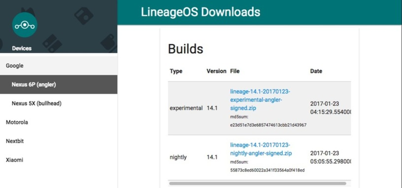 Ya está disponible la primera ROM de Lineage OS, sucesor de Cyanogen