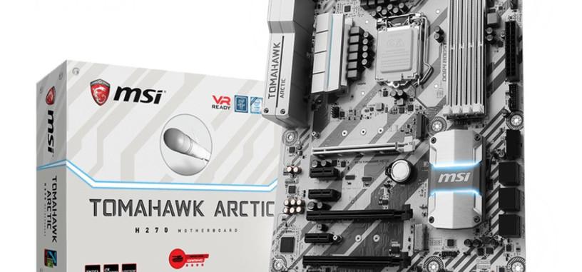 MSI pone a la venta su línea de placas base Arctic para procesadores Kaby Lake