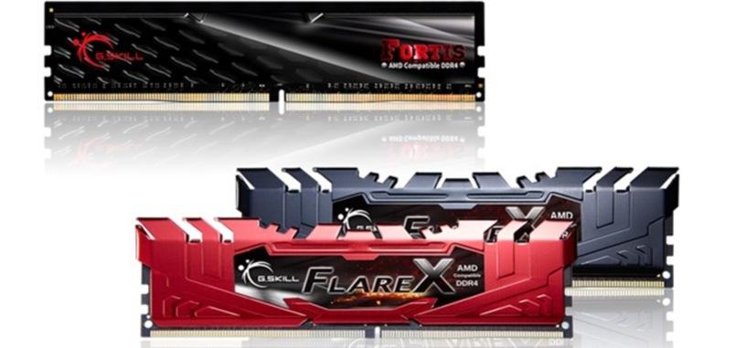 G.Skill presenta las series Flare X y FORTIS de memoria DDR4 para los procesadores Ryzen