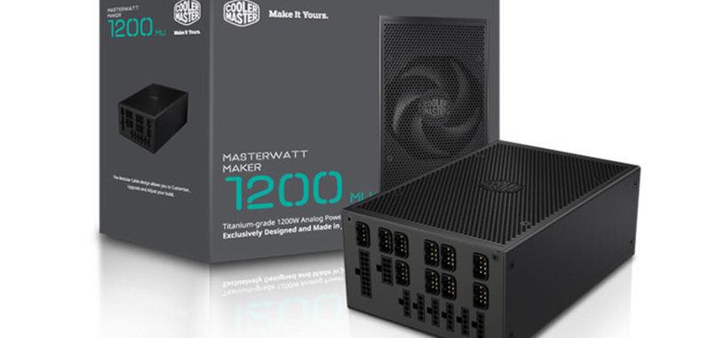 MasterWatt Maker 1200 MIJ, fuente con certificado 80 PLUS Titanium de 999 euros