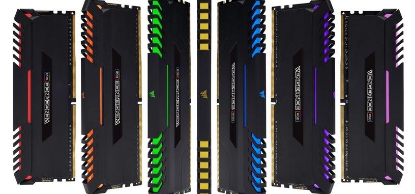 Corsair añade iluminación RGB a sus módulos de memoria Vengeance