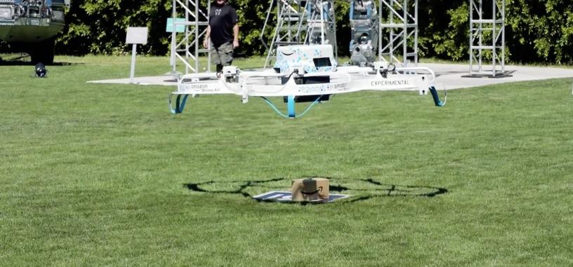Amazon hace una demostración de su sistema de reparto con drones