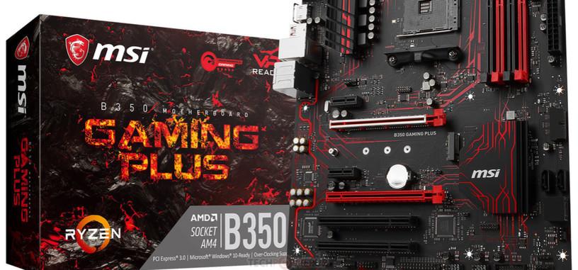 MSI presenta la placa base B350 Gaming Plus