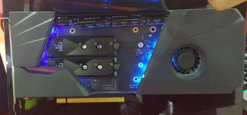 MSI muestra su prototipo de tarjeta PCIe para SSD en formato M.2 y disco de 2.5''