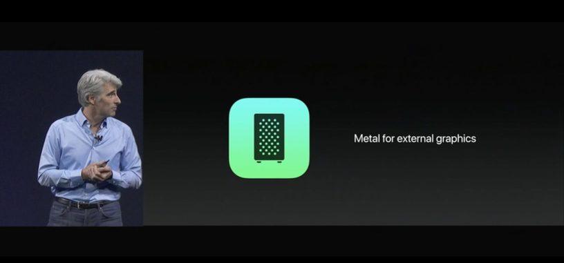 macOS High Sierra será compatible con las eGPU y añade Metal 2, nueva API de bajo nivel