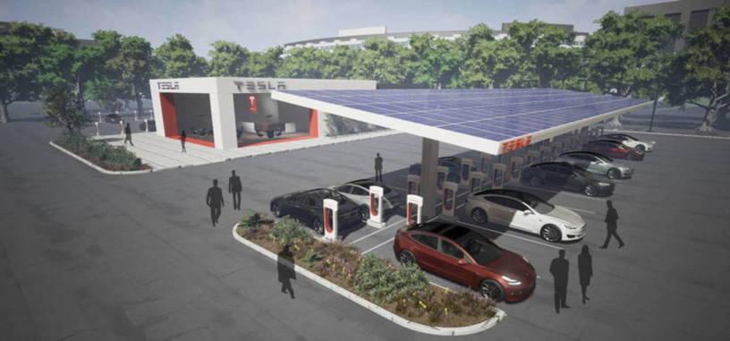 Las estaciones de servicio de Tesla funcionarán únicamente con energía solar