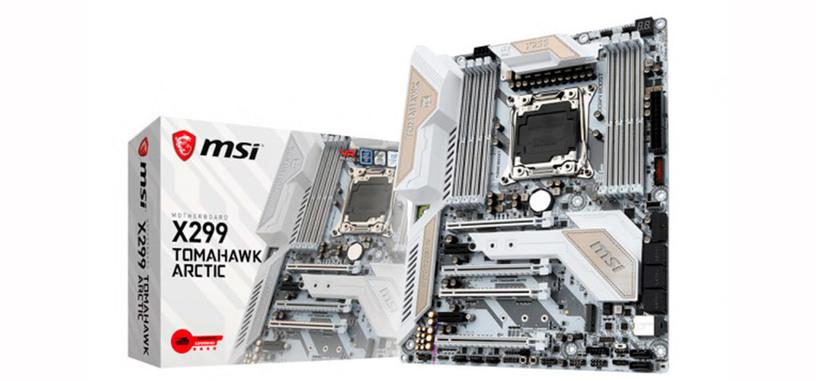 MSI presenta la placa base X299 Tomahawk Arctic