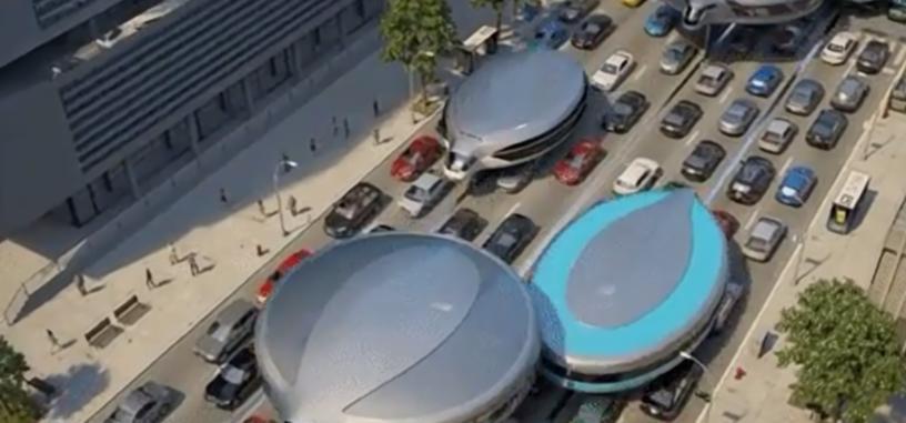Un estudio ruso presenta un vehículo con giróscopos para evadir el tráfico en las ciudades