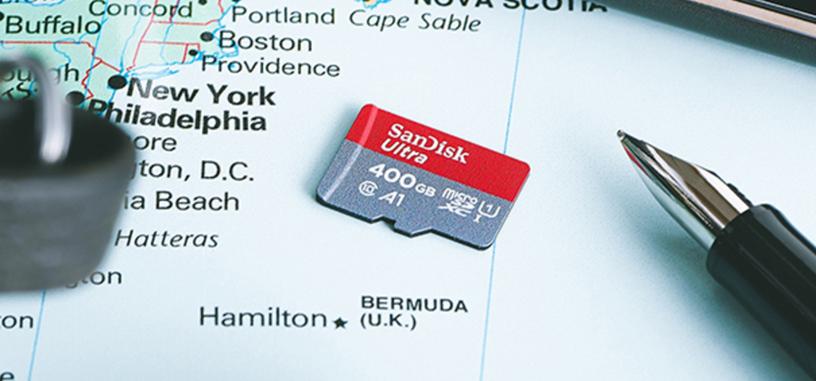 SanDisk tiene la tarjeta micro-SD de mayor capacidad, y es de 400 GB