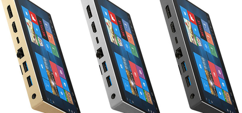 Este mini-PC parece un teléfono con su pantalla de 6 pulgadas