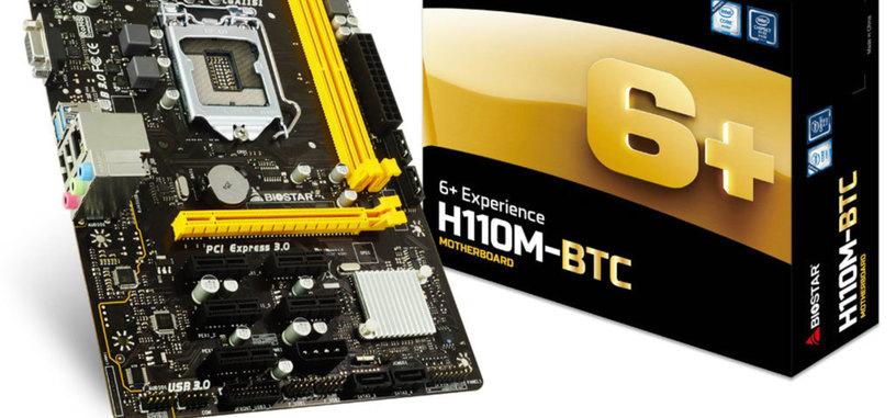BIOSTAR presenta la placa H110M-BTC para criptominería