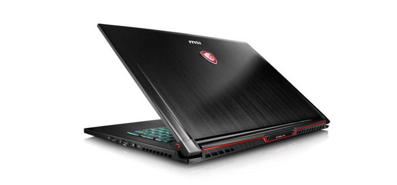 MSI pone a la venta los GS63VR/73VR con GTX 1070 Max-Q y pantalla de 3 ms y 120 Hz