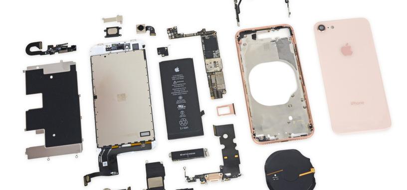 iFixit desmonta el iPhone 8, encuentra una batería de menor capacidad y mucho pegamento