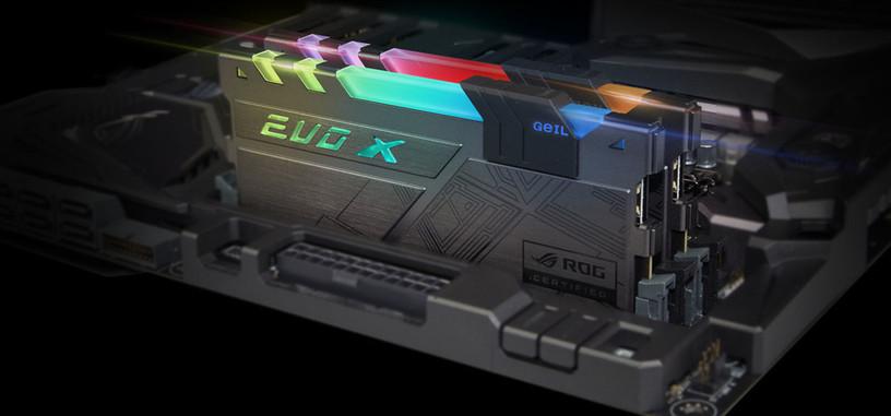 GeiL ilumina los módulos Evo X con certificado Aura Sync de ASUS