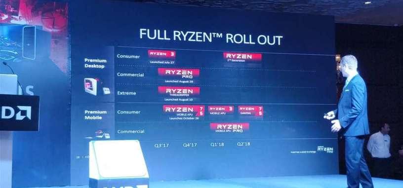 AMD confirma la segunda generación Ryzen para el primer y segundo trimestre de 2018