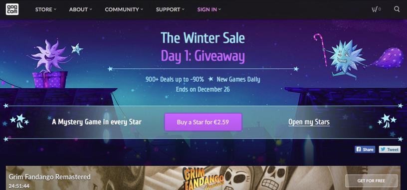 GOG inicia sus rebajas de Navidad con ofertas especiales cada día (y juegos gratis)