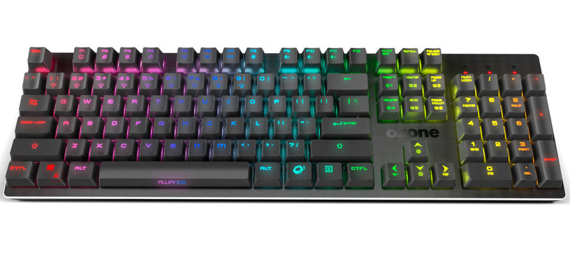 Ozone presenta el teclado Alliance, semimecánico RGB a prueba de salpicaduras