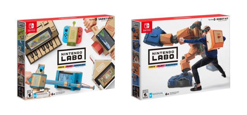 Nintendo crea juguetes de cartón para montarlos y utilizarlos con la Switch