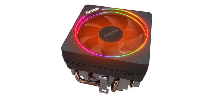 AMD revisa la refrigeración Wraith Prism, ahora tiene seis caloductos