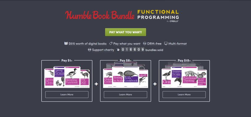 Domina la programación funcional con este Humble Bundle de O'Reilly Books
